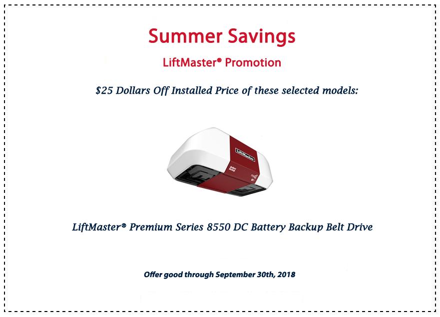 LiftMaster Savings