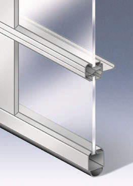Aluminum and Glass Frame