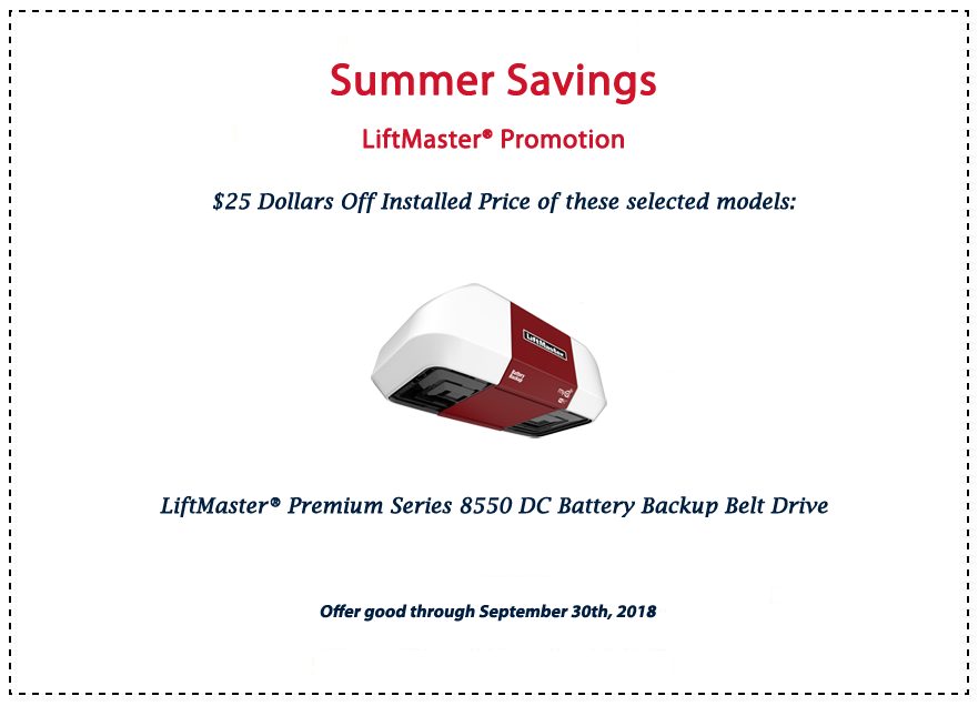 LiftMaster Savings